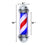 BarberPub Barber Pole Red/Pink&Blue/Black&White  Stripes Rotating Metal Hair Salon Sign L016