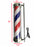 BarberPub Barber Pole Red White Blue Stripes Rotating Metal Hair Salon Sign L017