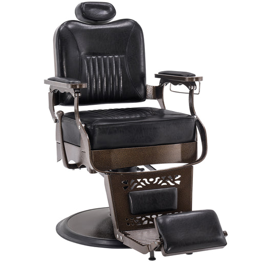 BarberPub Heavy Duty Metal Vintage Barber Chair All Purpose Hydraulic Recline Salon Beauty Spa Chair Styling Equipment 2925