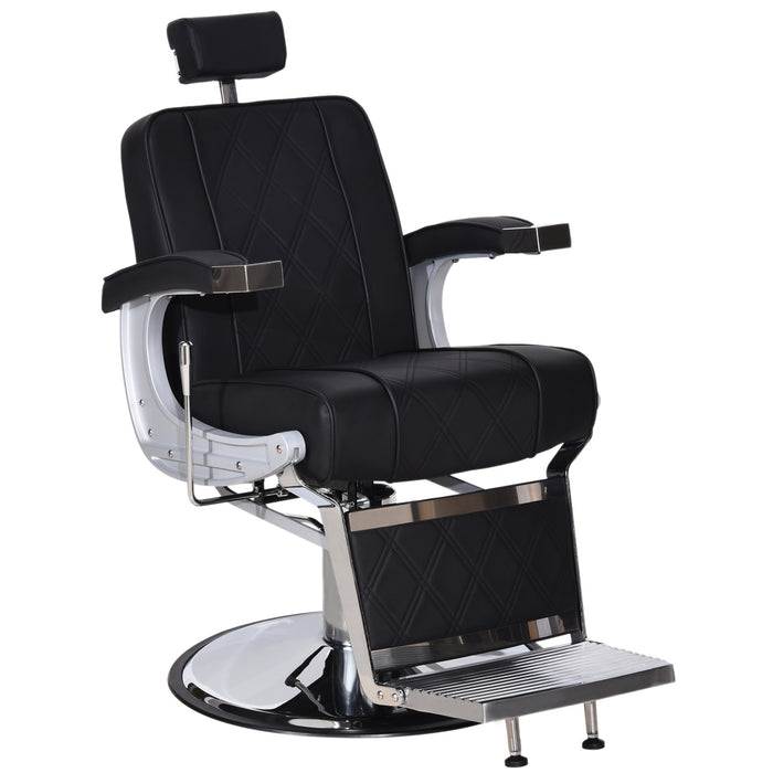 BarberPub Vintage Barber Chair Heavy Duty Metal Frame All Purpose Hydraulic Recline Beauty Salon Spa Equipment 3827