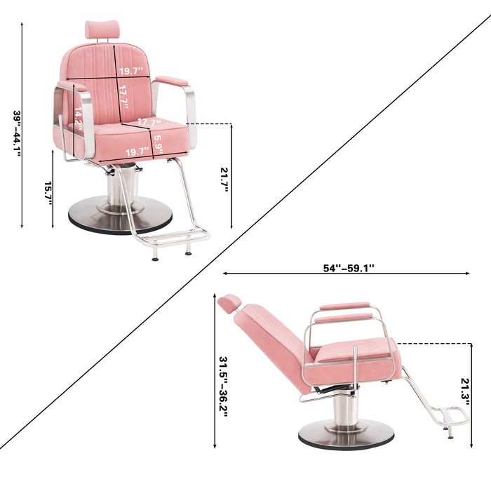 BarberPub Salon Chair for Hair Stylist, All Purpose Hydraulic Barber Styling Chair, Beauty Spa Equipment 8548