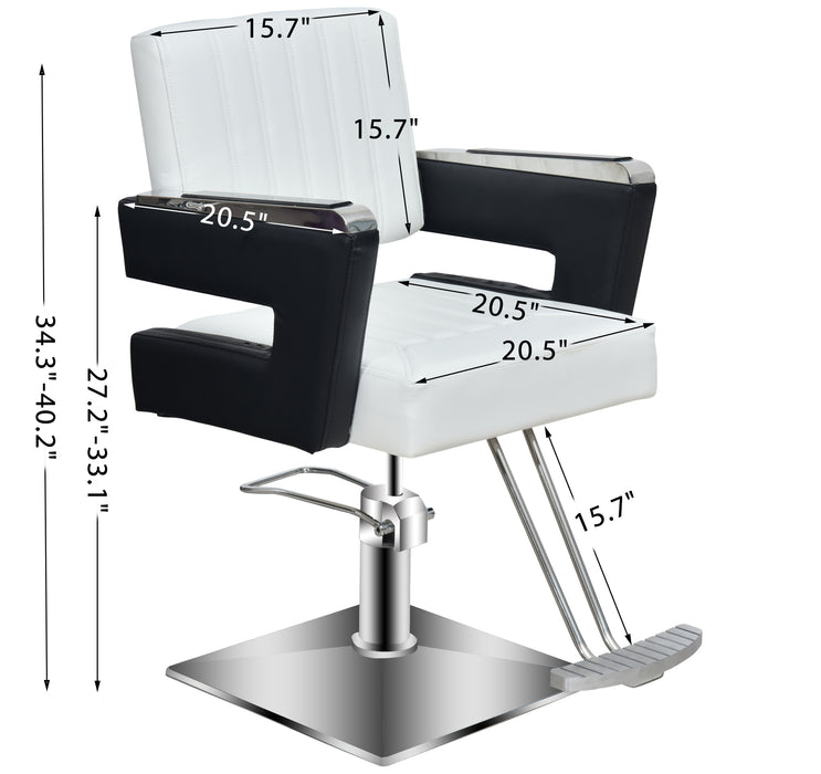 BarberPub Salon Chair For Hair Stylist, All Purpose Hydraulic Barber Styling Chair, Beauty Spa Equipment 8815 (6'' Seat Height Adjustment)