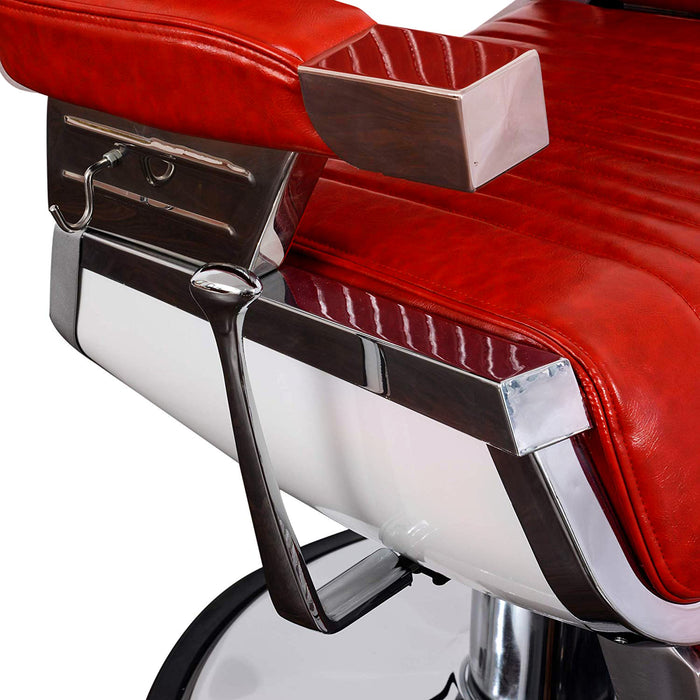 BarberPub Vintage Hydraulic Barber Chair Aluminum Alloy All Purpose Salon Beauty Spa Chair Styling Equipment 2009