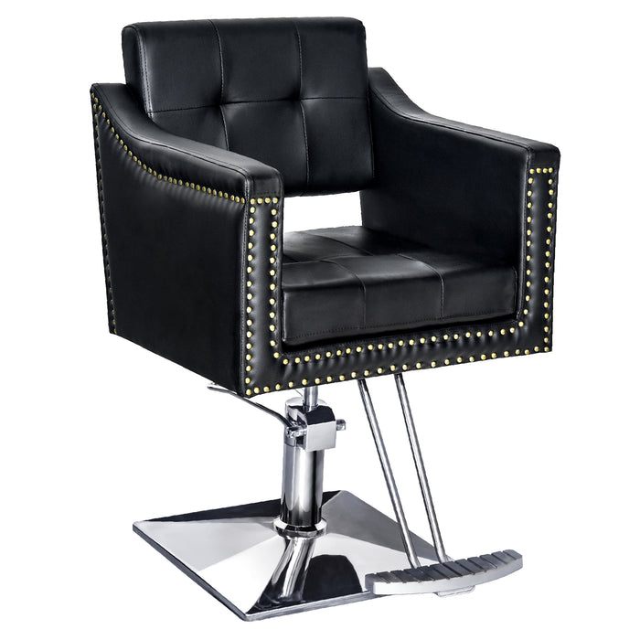 "BarberPub Salon Chair For Hair Stylist, All Purpose Hydraulic Barber Styling Chair, Beauty Spa Equipment 8813 (6"" Seat Height Adjustment)"