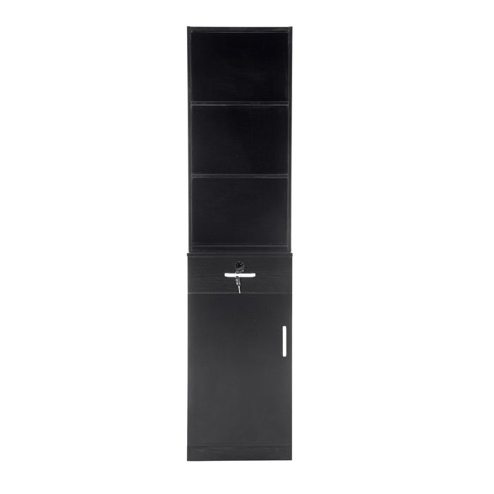 BarberPub Locking Wall Mount Barber Station Hair Styling Drawer Storage Beauty Salon Spa Equipment 3056BK-1