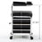 BarberPub Pedicure Unit Nail Stool Seat with Wheels Nail Station Beauty Spa Salon Trolley Cart 9311