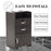 BarberPub Salon Wood Rolling Drawer Cabinet Trolley Cart Tattoo Equipment 2031