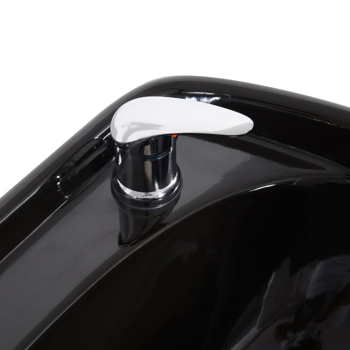 BarberPub Backwash Ceramic Shampoo Bowl Sink Unit Station Spa Salon Equipment 9103