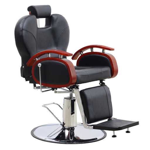 BarberPub Heavy Duty Recline Barber Chair All Purpose Hydraulic Salon Chair for Hair Stylist Spa Beauty Shampoo Equipment 8705