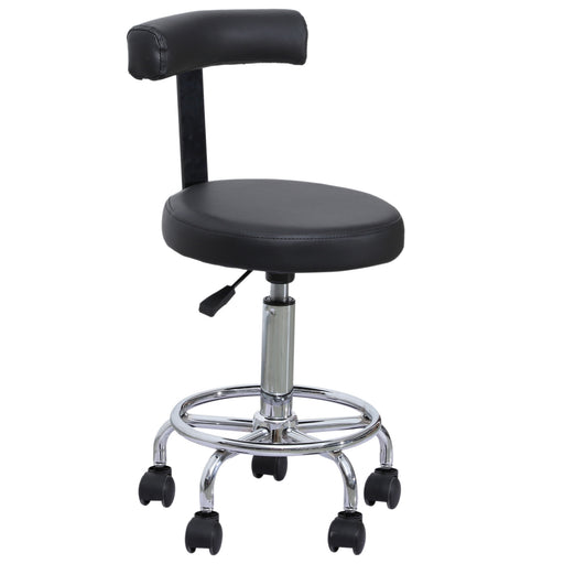 BarberPub Adjustable Hydraulic Rolling Swivel Salon Stool Chair Tattoo Massage Facial Spa Stool Chair With Backrest and Wheels 6005
