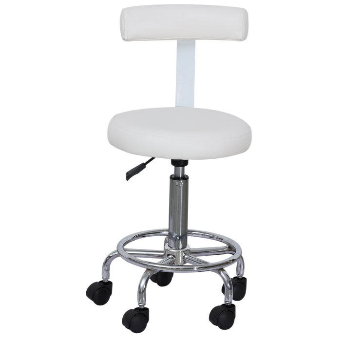 BarberPub Barber Chair Salon SPA  Height adjustable Swivel Chair  Rolling Chair With Backrest 6005