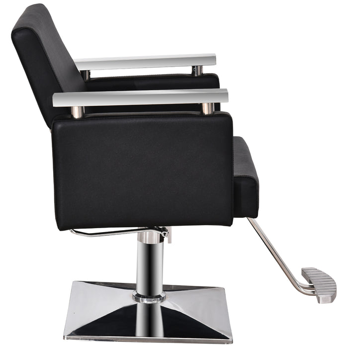 BarberPub Classic Hydraulic Barber Chair Styling Salon Chair for Hair Stylist Beauty Spa Equipment 8808BK