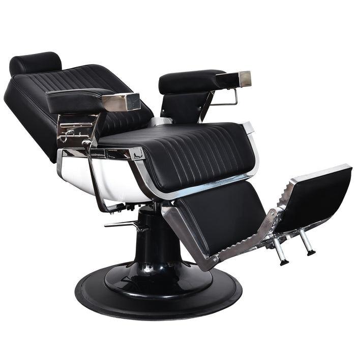 BarberPub All Purpose Heavy Duty Vintage Hydraulic Recline Barber Chair Salon Beauty Spa Styling Equipment 2008