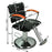 BarberPub Hydraulic Barber Chair Hair Styling Beauty Salon Equipment Arms Professional 7122 Black