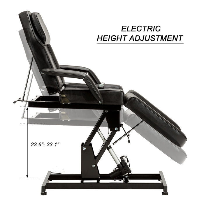 BarberPub  Electric SPA Massage Bed  Salon Chair Facial Adjustable Table Beauty Equipment 0100