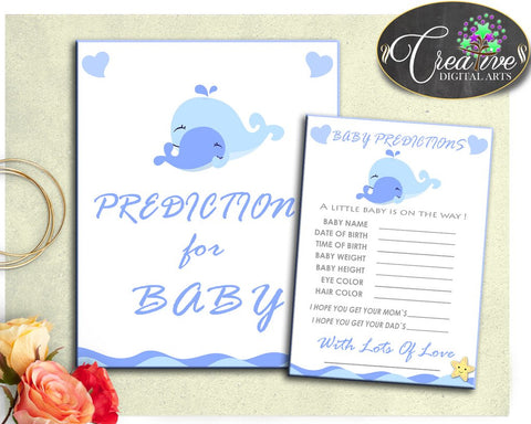 Baby shower blue whales nautical theme