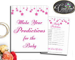 Baby Shower Twinkle Little Star pink theme