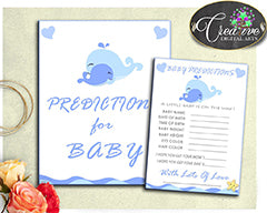 Baby shower blue whales nautical