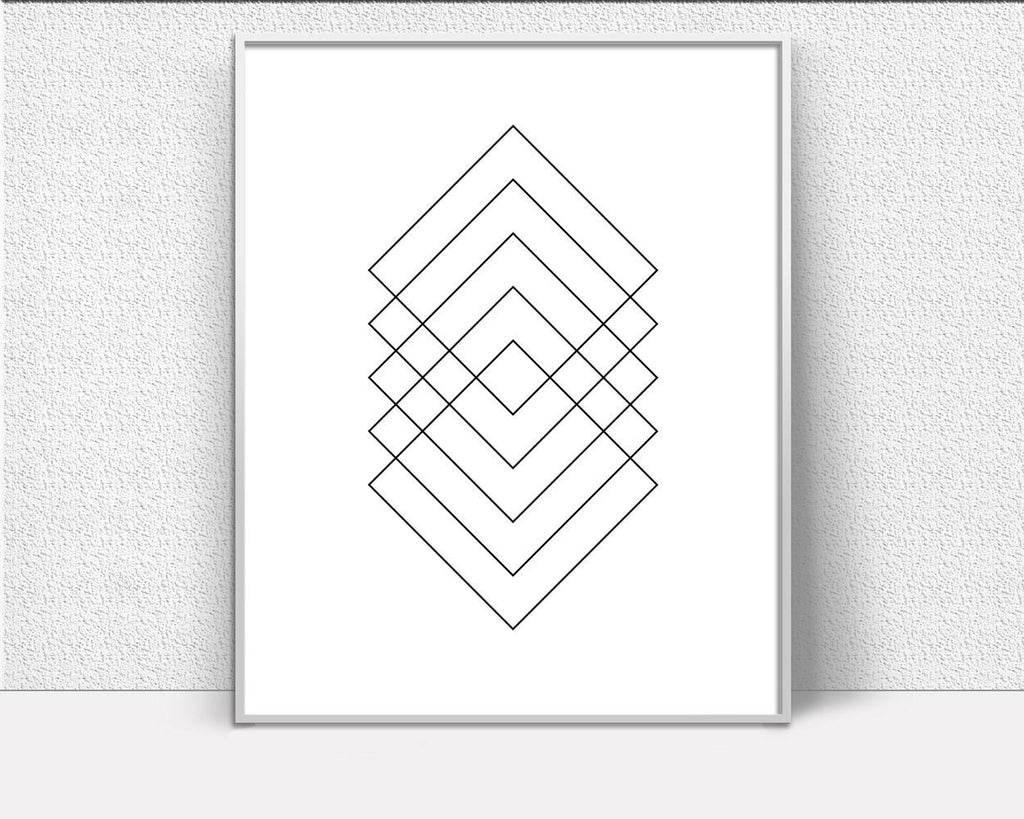 Wall Decor Square Printable Geometry Prints Square Sign Geometry  Printable Art Square gallery wall prints printable geometry modern print - Digital Download
