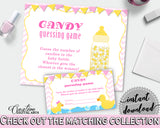 Candy Guessing Baby Shower Candy Guessing Rubber Duck Baby Shower Candy Guessing Baby Shower Rubber Duck Candy Guessing Purple Pink rd001