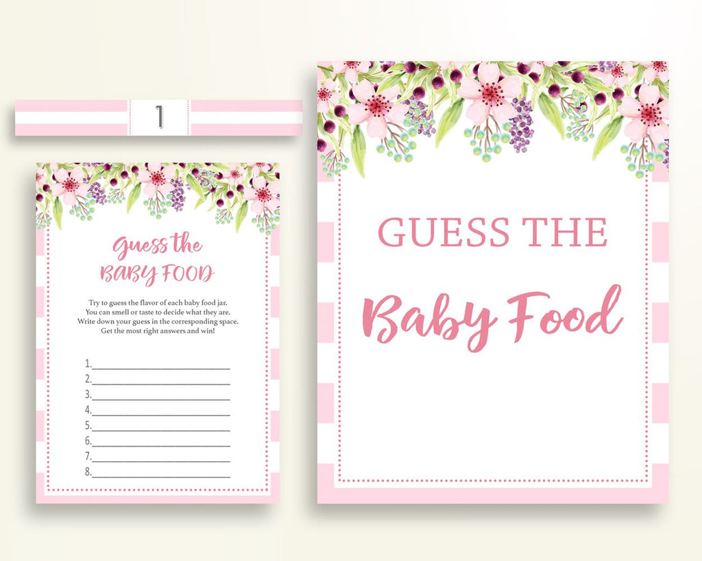 Baby Food Guessing Baby Shower Baby Food Guessing Pink Baby Shower Baby Food Guessing Baby Shower Flowers Baby Food Guessing Pink 5RQAG - Digital Product