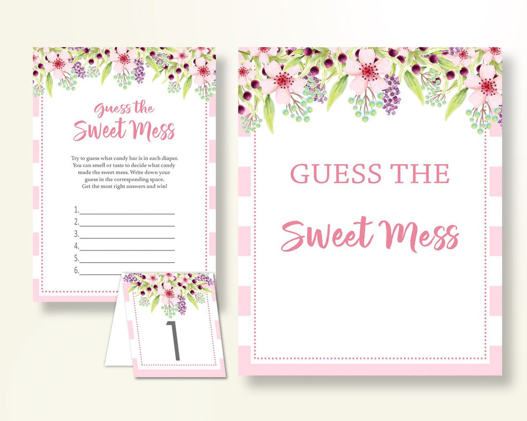 Sweet Mess Baby Shower Sweet Mess Pink Baby Shower Sweet Mess Baby Shower Flowers Sweet Mess Pink Green instant download prints pdf 5RQAG - Digital Product