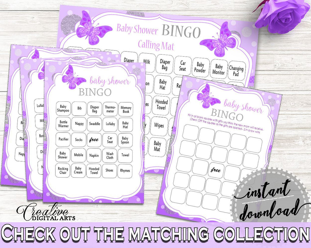 Bingo 60 Cards Baby Shower Bingo 60 Cards Butterfly Baby Shower Bingo 60 Cards Baby Shower Butterfly Bingo 60 Cards Purple Pink pdf 7AANK - Digital Product