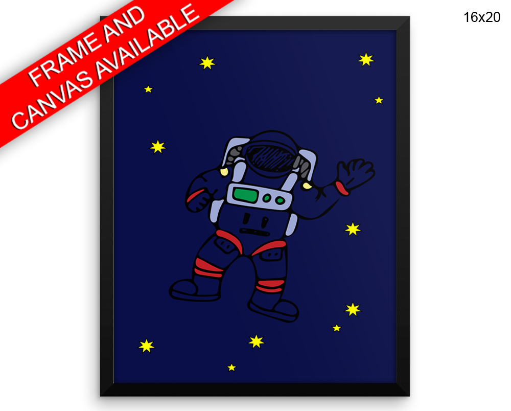 Astronaut Print, Beautiful Wall Art with Frame and Canvas options available Nursery Decor