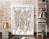 Wall Decor Let It Snow Printable Let It Snow Prints Let It Snow Sign Let It Snow Winter Art Let It Snow Winter Print Let It Snow Printable - Digital Download