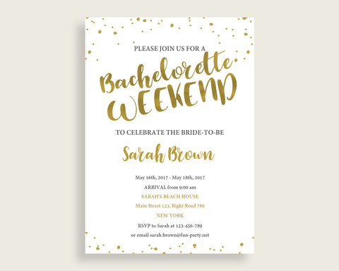 Bachelorette Weekend Invitation Bridal Shower Bachelorette Weekend Invitation Gold Bridal Shower Bachelorette Weekend Invitation G2ZNX