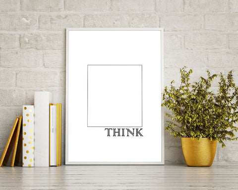 Wall Decor Think Outside The Box Printable Think Outside The Box ...