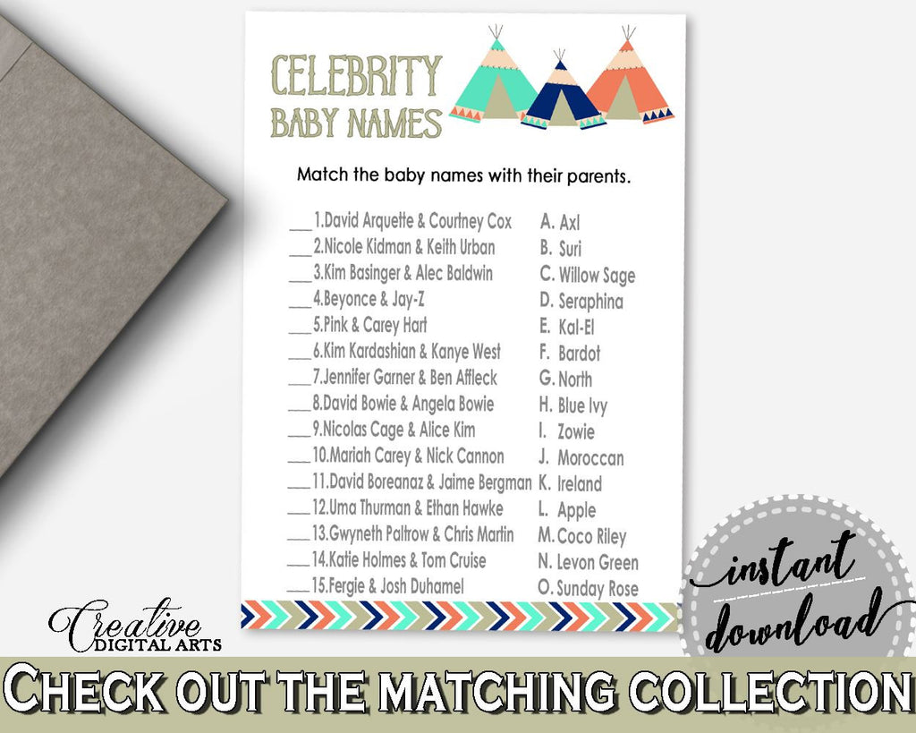 Celebrity Baby Names Baby Shower Celebrity Baby Names Tribal Teepee Baby Shower Celebrity Baby Names Baby Shower Tribal Teepee KS6AW - Digital Product