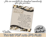 Brown And Beige Seashells And Pearls Bridal Shower Theme: Don't Say Bride - don't say a word, lace shower, party theme, party decor - 65924 - Digital Product