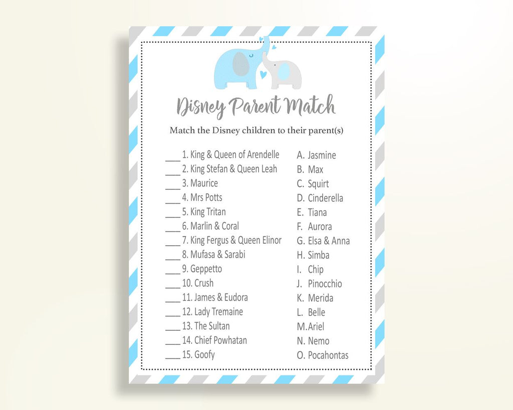Disney Parent Match Baby Shower Disney Parent Match Elephant Baby Shower Disney Parent Match Blue Gray Baby Shower Elephant Disney C0U64 - Digital Product