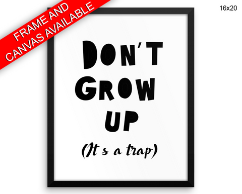 Grow Trap Print, Beautiful Wall Art with Frame and Canvas options available Nursery Decor
