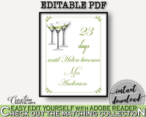 Days Until Becomes Bridal Shower Days Until Becomes Modern Martini Bridal Shower Days Until Becomes Bridal Shower Modern Martini Days ARTAN - Digital Product