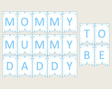 Stars Baby Shower Chair Banner Printable, Blue Gold Chair Banner, Boy Shower, Mama To Be, Mommy, Dad Mom To Be, Instant Download, bsr01