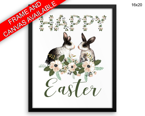 Easter Bunny Print, Beautiful Wall Art with Frame and Canvas options available Easter Decor
