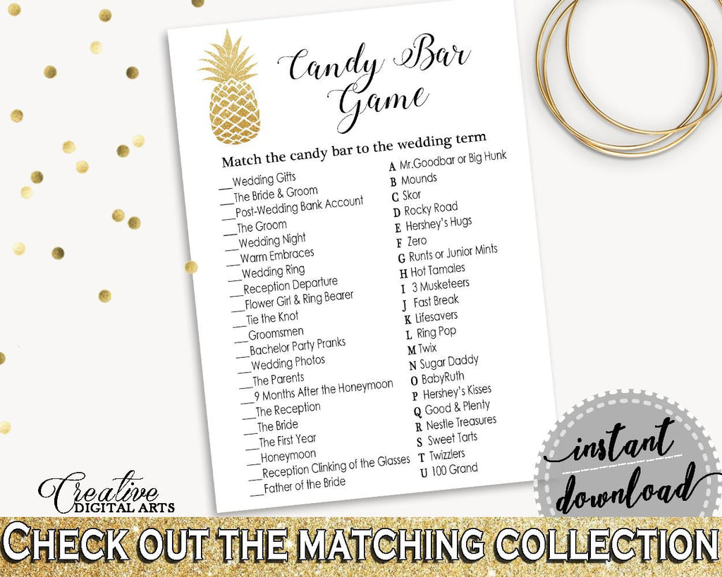 Candy Bar Game Bridal Shower Candy Bar Game Pineapple Bridal Shower Candy Bar Game Bridal Shower Pineapple Candy Bar Game Gold White 86GZU - Digital Product