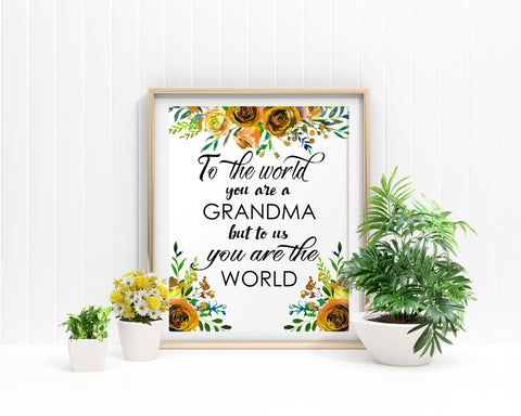 Wall Art Grandma Gift Digital Print Grandma Gift Poster Art Grandma Gift Wall Art Print Grandma Gift Home Art Grandma Gift Home Print - Digital Download