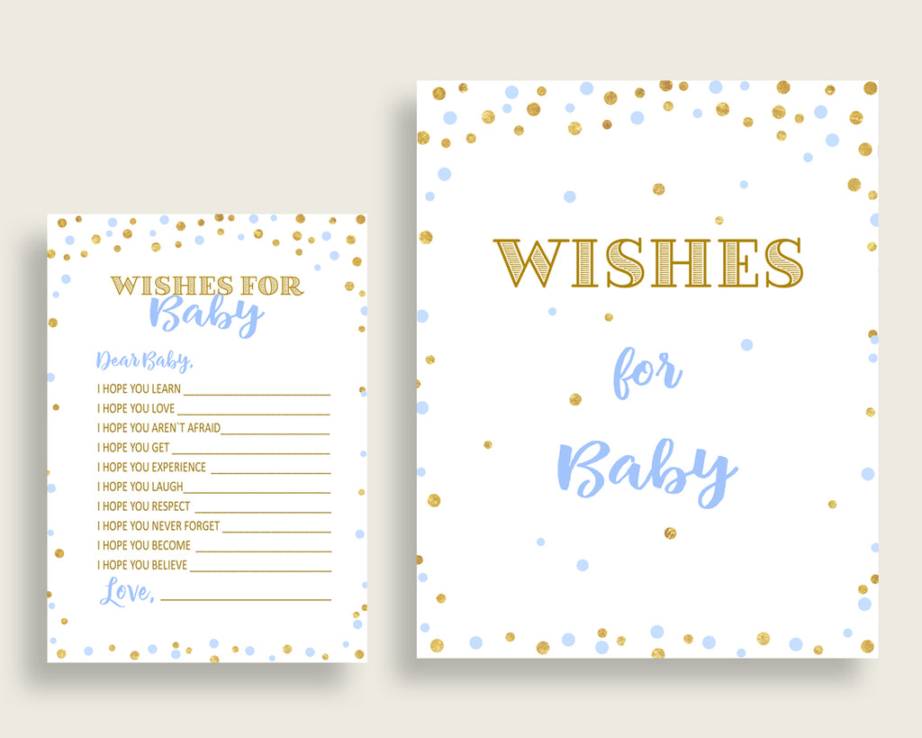 Wishes For Baby Baby Shower Wishes For Baby Confetti Baby Shower Wishes For Baby Blue Gold Baby Shower Confetti Wishes For Baby cb001