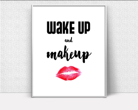 Wall Art Makeup Digital Print Makeup Poster Art Makeup Wall Art Print Makeup Fashion Art Makeup Fashion Print Makeup Wall Decor Makeup - Digital Download