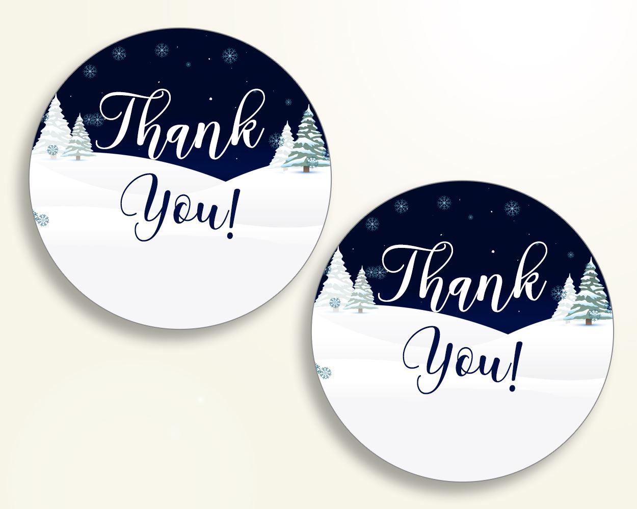 Favor Tags Baby Shower Favor Tags Winter Baby Shower Favor Tags Baby Shower Winter Favor Tags Blue White prints party stuff 3E6QO - Digital Product