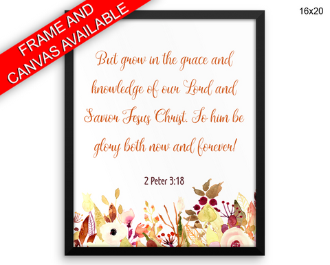 Peter Scripture Print, Beautiful Wall Art with Frame and Canvas options available Bible Decor