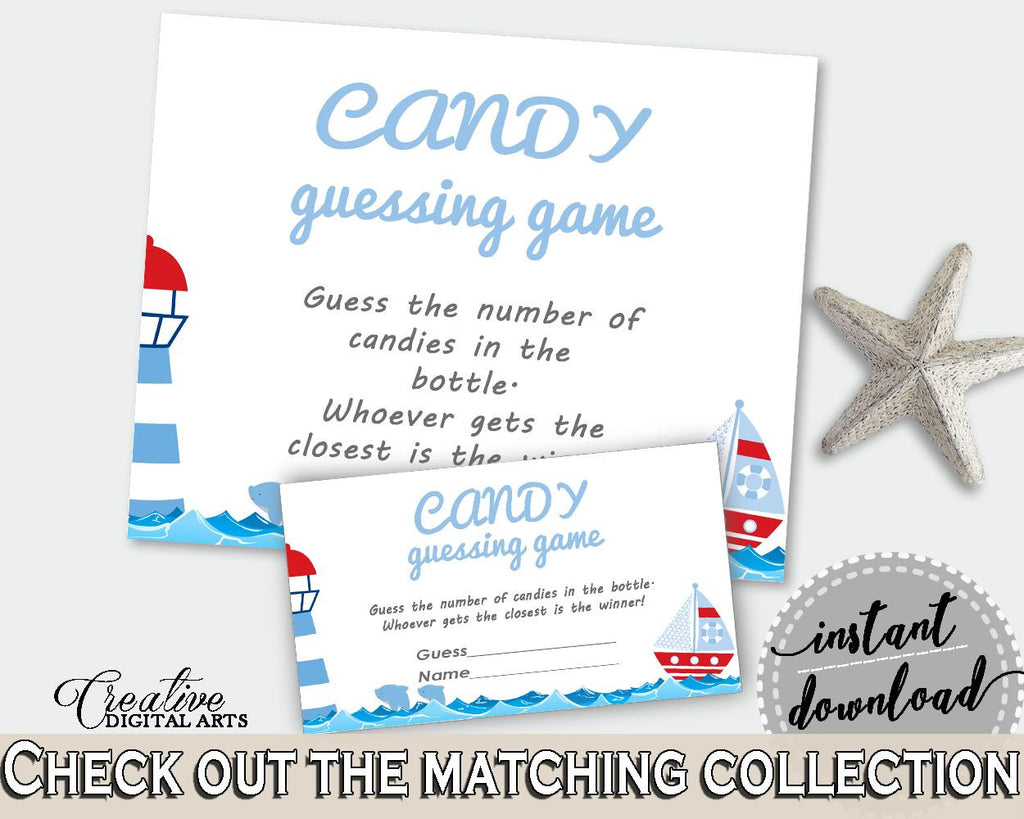 Candy Guessing Game Baby Shower Candy Guessing Game Nautical Baby Shower Candy Guessing Game Baby Shower Nautical Candy Guessing Game DHTQT - Digital Product