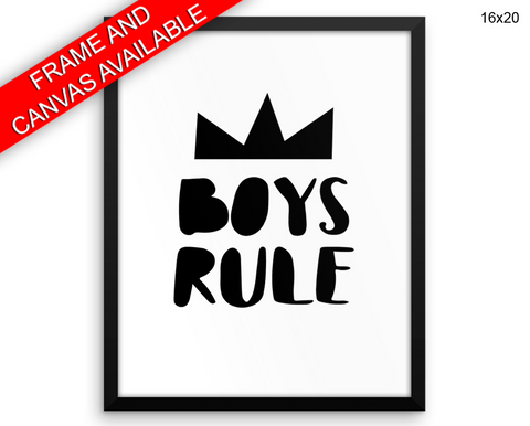 Boys Print, Beautiful Wall Art with Frame and Canvas options available Boys Room Decor
