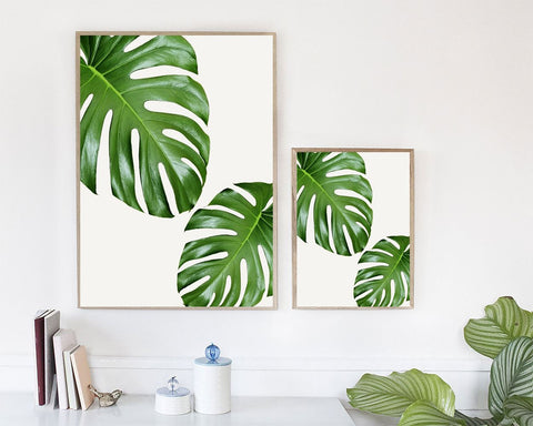 Wall Art Leaf Digital Print Leaf Poster Art Leaf Wall Art Print Leaf Home Art Leaf Home Print Leaf Wall Decor Leaf monstera leaves - Digital Download