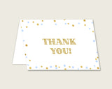 Thank You Card Baby Shower Thank You Card Confetti Baby Shower Thank You Card Blue Gold Baby Shower Confetti Thank You Card pdf jpg cb001