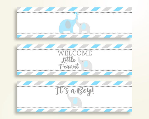 Bottle Labels Baby Shower Bottle Labels Elephant Baby Shower Bottle Labels Blue Gray Baby Shower Elephant Bottle Labels Prints C0u64 Digital Product