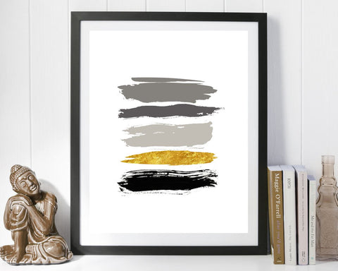 Wall Art Strokes Digital Print Strokes Poster Art Strokes Wall Art Print Strokes Living Room Art Strokes Living Room Print Strokes Wall - Digital Download